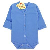 Body albastru cu manusa si capse nou-nascuti 0-1 luni