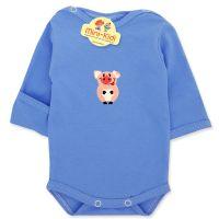 Body albastru cu manusa pentru nou-nascuti 0-1 luni, purcelus