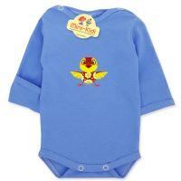 Body albastru cu manusa pentru nou-nascuti 0-1 luni, puisor