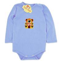 Body albastru bebelusi 1-12 luni, bumbac, ursulet