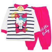 Trening bumbac bebelusi 3-12 luni, Hello Kitty, fuchsia