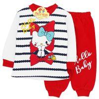 Trening bumbac bebelusi 3-12 luni, Hello Kitty, rosu