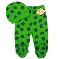 Set caciula-pantaloni bebelusi 0-3 luni, verde