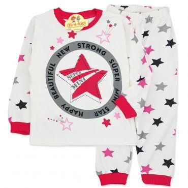 Pijamale bumbac fetite 2-5 ani, stelute