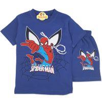 Compleu de vara baieti 4-8 ani, Spider-Man, bleumarin