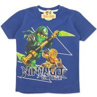 Tricou bumbac copii 3-8 ani, NinjaGo, bleumarin