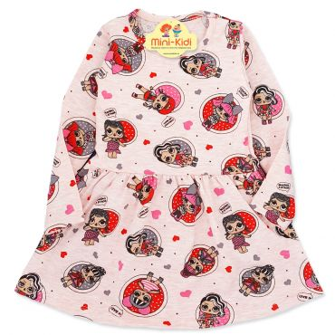 Rochita bumbac fetite 1-5 ani, surorile LOL, roz