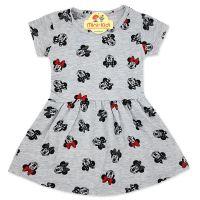 Rochita bumbac fetite 1-5 ani, Minnie Mouse, gri