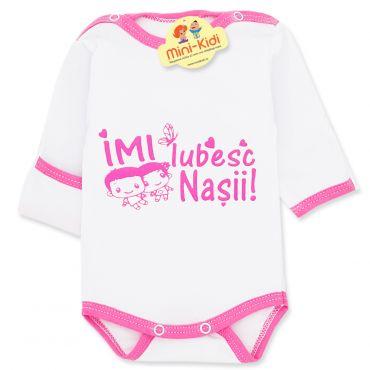 """Body mesaj """"Imi iubesc nasii"""" nou-nascuti 0-1 luni, bumbac"""
