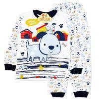 Pijamale bumbac baieti 2-5 ani, catelusi
