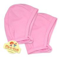 Set 2 caciulite de casa bebelusi 0-3 ani, bumbac, roz