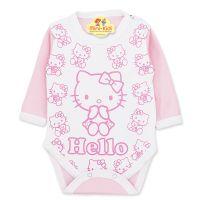 Body bumbac bebelusi 3-18 luni, Hello Kitty, roz