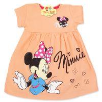 Rochita bumbac fetite 6 luni-7 ani, Minnie, roz somon