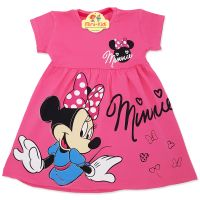 Rochita bumbac fetite 9 luni-8 ani, Minnie, roz