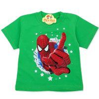 Tricou copii 9 luni-4 ani, Spiderman, verde
