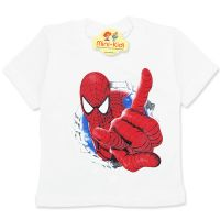 Tricou copii 9 luni-4 ani, Spiderman, crem