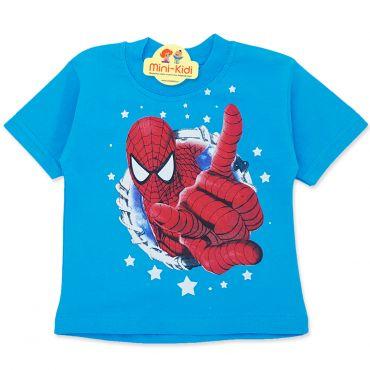 Tricou copii 9 luni-4 ani, Spiderman, albastru