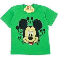 Tricou copii 9 luni-4 ani, Mickey Mouse, verde
