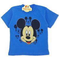 Tricou copii 9 luni-4 ani, Mickey Mouse, albastru
