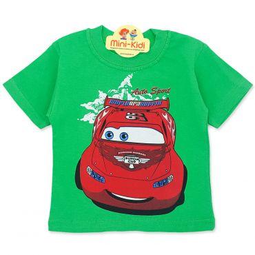 Tricou copii 9 luni-4 ani, Fulgerul McQueen, verde