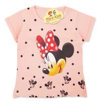 Tricou copii-fetite 9 luni-4 ani, Minnie Mouse, roz somon