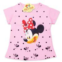 Tricou copii-fetite 9 luni-4 ani, Minnie Mouse, roz pal