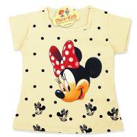 Tricou copii-fetite 9 luni-4 ani, Minnie Mouse, galben pai