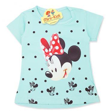 Tricou copii-fetite 9 luni-4 ani, Minnie Mouse, verde