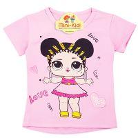 Tricou copii-fetite 9 luni-4 ani, LOL, roz