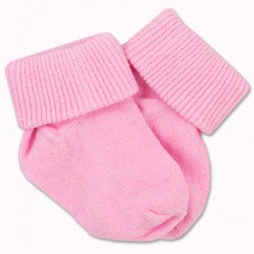 Sosete bumbac bebelusi 0-2 ani, roz