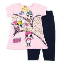 Compleu vara fetite 9 luni-3 ani, bluza cu colanti, LOL, roz