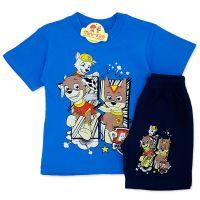 Compleu de vara copii 3-8 ani, Patrula Catelusilor, albastru