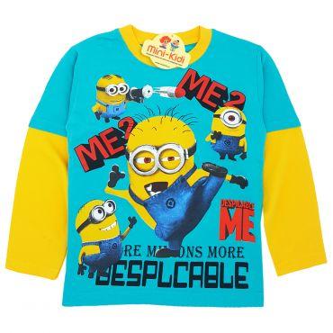 Bluza-tricou baieti 4-8 ani, Minioni