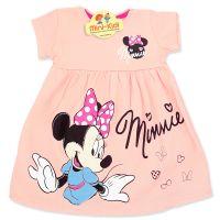 Rochita bumbac fetite 6 luni-7 ani, Minnie, roz deschis
