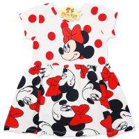 Rochita bumbac fetite 1-6 ani, Minnie Mouse, buline rosii