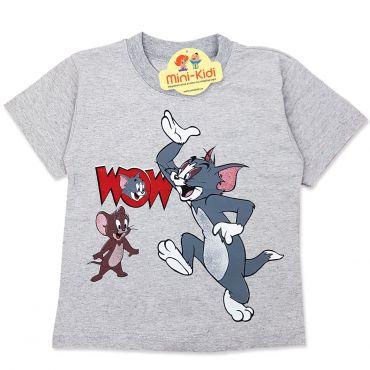 Tricou baieti 3-8 ani, Tom&Jerry, gri