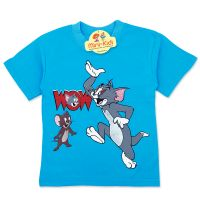Tricou baieti 3-8 ani, Tom&Jerry, bleu