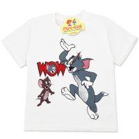 Tricou baieti 3-8 ani, Tom&Jerry, crem