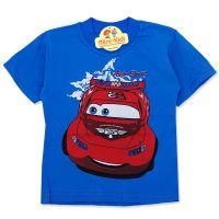 Tricou copii 9 luni-4 ani, masinuta, albastru