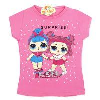 Tricou bumbac fete 4-8 ani, surorile LOL, roz