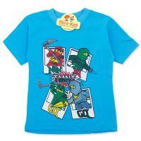 Tricou baieti 3-8 ani, NinjaGO, bleu