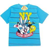 Tricou baieti 3-8 ani, Looney Tunes, albastru deschis