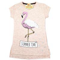 Bluza lunga fete 7-11 ani, flamingo, paiete