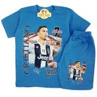 Compleu de vara copii 7-12 ani, Ronaldo, albastru