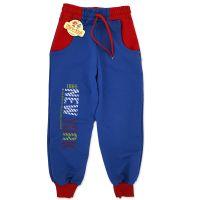 Pantaloni sport copii 5-9 ani, albastru-rosu