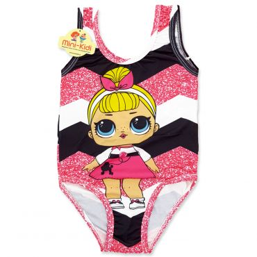 Costum de baie fetite 9 luni-5 ani, dungi late