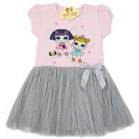 Rochita eleganta fetite 2-8 ani, LOL, gri-roz