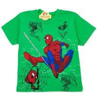 Tricou baieti 3-8 ani, Spiderman, verde