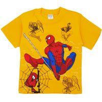 Tricou bumbac baieti 3-8 ani, Spiderman, galben