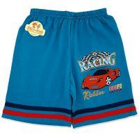 Pantaloni scurti baieti 4-9 ani, masinuta, verde marin